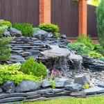 fontana giardino cascata